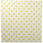 Amarillo de la estrella 1 servilleta