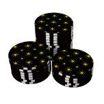 Amarillo de la estrella 5 fichas de póquer
