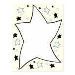 amarillo de la estrella tarjetas postales