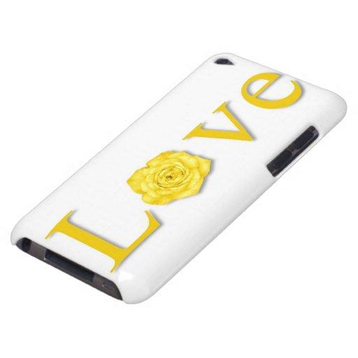 Amarillo de la flor del amor iPod touch Case-Mate protector