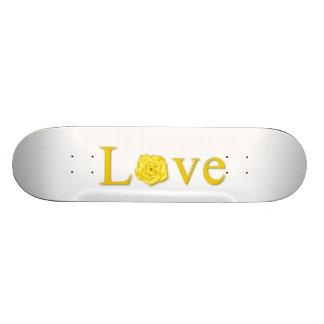 Amarillo de la flor del amor patines personalizados