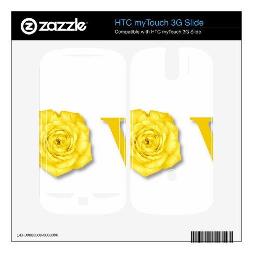 Amarillo de la flor del amor HTC myTouch 3G slide skin