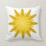 Amarillo de la floración almohada