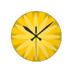 Amarillo de la floración reloj