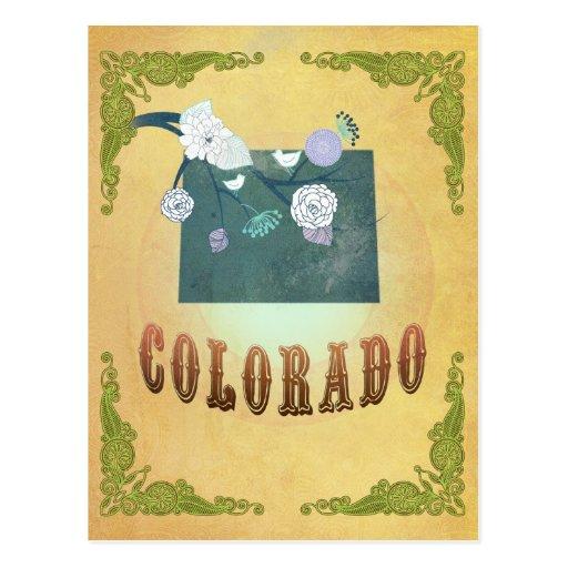 Amarillo de la fruta de la pasión del mapa del est tarjetas postales
