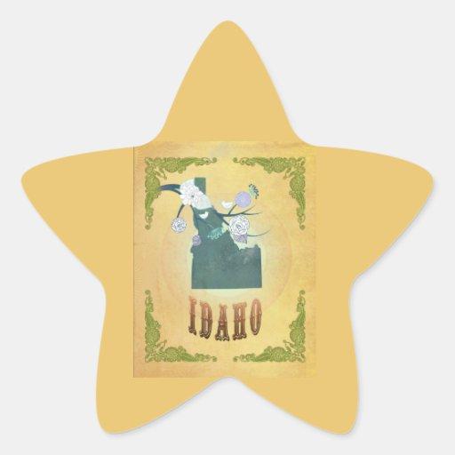 Amarillo de la fruta de la pasión del mapa del pegatina en forma de estrella