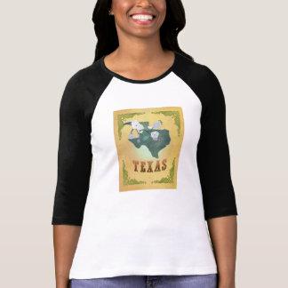 Amarillo de la fruta de la pasión del mapa del camiseta