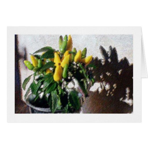 Amarillo de la impresión tarjeta