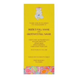 Amarillo de la invitación del compromiso del boda invitación 10,1 x 23,5 cm