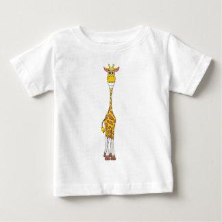 Amarillo de la jirafa playera de bebé