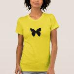 amarillo de la mariposa camiseta