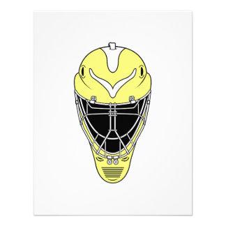 Amarillo de la máscara del hockey anuncio personalizado