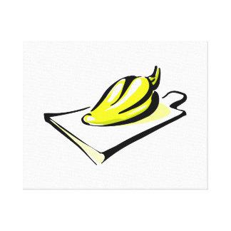 Amarillo de la pimienta en gráfico de la tabla de  impresión en lona