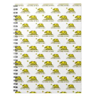 Amarillo de la república 1 de California Spiral Notebooks