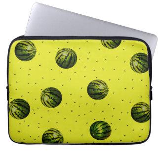 amarillo de la sandía con las semillas mangas computadora