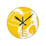 Amarillo de la SED del SUDOR del TREN (f) Reloj De Pared