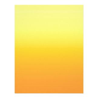 Amarillo de la sol de dos tonos membretes personalizados