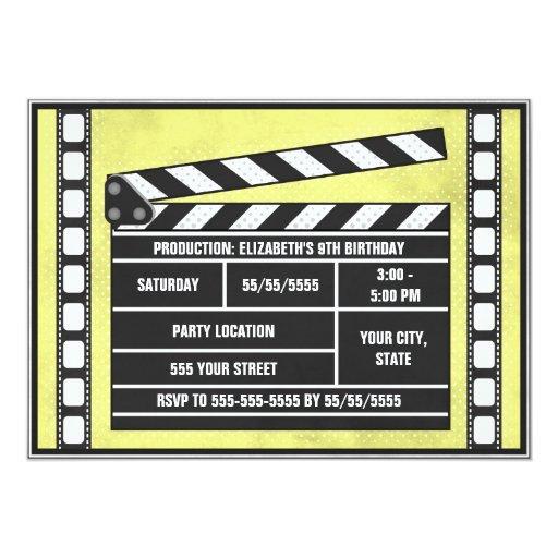 Amarillo de la tablilla de la fiesta de cumpleaños comunicados personalizados