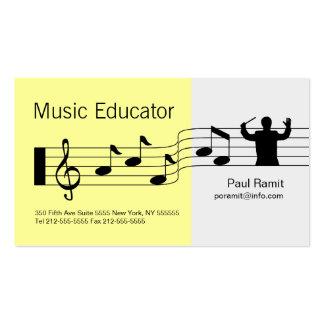 Amarillo de la tarjeta de visita del educador de l