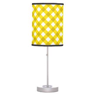 Amarillo de la tela escocesa 1 lámpara de escritorio