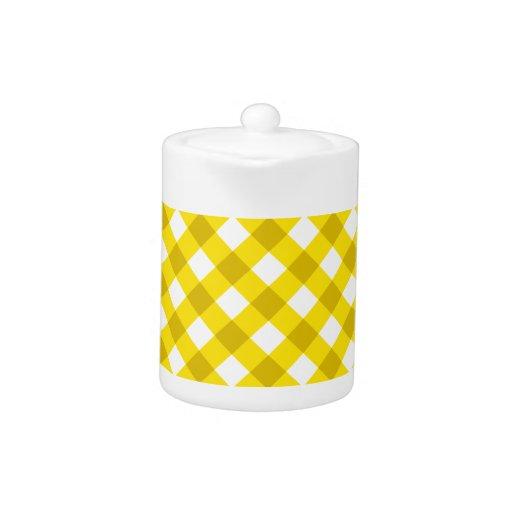 Amarillo de la tela escocesa 1