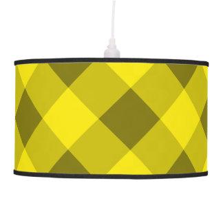 Amarillo de la tela escocesa 2 lámpara de techo