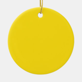 Amarillo de la vara de oro adorno redondo de cerámica