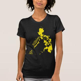 Amarillo de las islas filipinas de la filipina camisetas