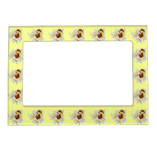 Amarillo de las margaritas marcos magnéticos