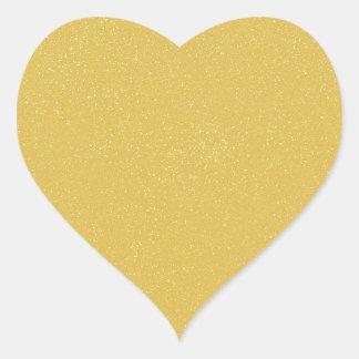 AMARILLO de las natillas de PANTONE con falso Pegatina En Forma De Corazón