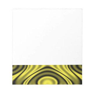 Amarillo de los anillos y de las ondulaciones bloc de notas
