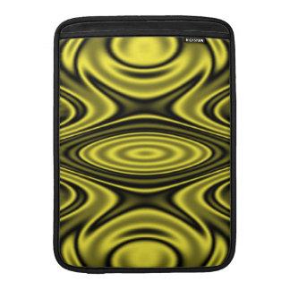Amarillo de los anillos y de las ondulaciones fundas MacBook