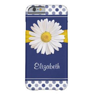 Amarillo de los azules marinos de la margarita de funda de iPhone 6 barely there