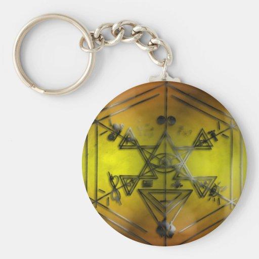 amarillo de los símbolos del strang llaveros