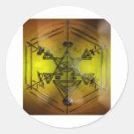 amarillo de los símbolos del strang pegatinas