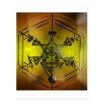 amarillo de los símbolos del strang tarjeta postal