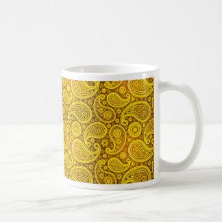 Amarillo de lujo de Paisley el | Taza