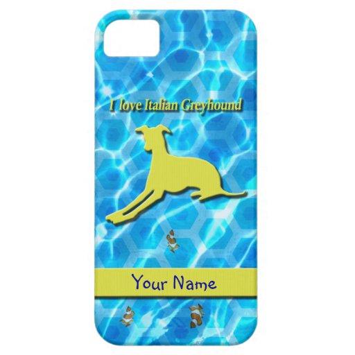 Amarillo de mentira de la piscina de Iggy para iph iPhone 5 Coberturas