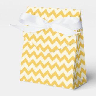 Amarillo de moda del modelo de Chevron del zigzag Cajas Para Detalles De Boda