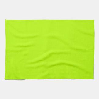 Amarillo de neón de la verde lima fluorescente toalla