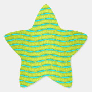 Amarillo de neón del resplandor y modelo brillante pegatina en forma de estrella