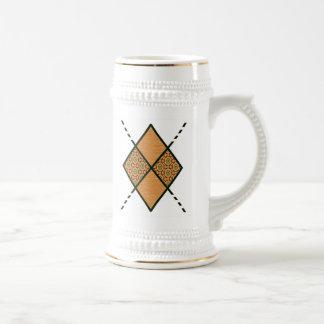 Amarillo de oro Brown-005 Jarra De Cerveza