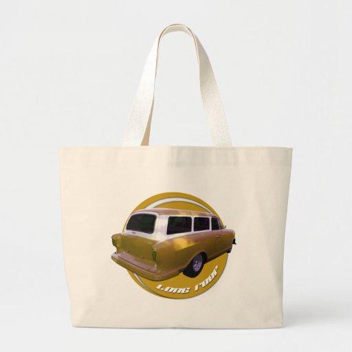 amarillo de oro de la furgoneta larga del tejado d bolsa tela grande