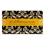 amarillo de oro del damasco 311-Belladonna Tarjetas De Visita