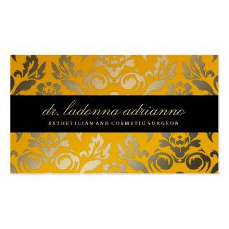 Amarillo de oro del damasco de 311 Ladonna Tarjetas De Visita