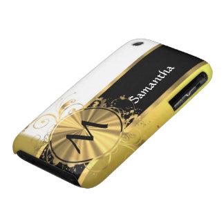 Amarillo de oro y oro Case-Mate iPhone 3 cobertura