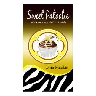 """Amarillo de """"Patootie dulce"""" del logotipo de la Tarjetas De Visita"""