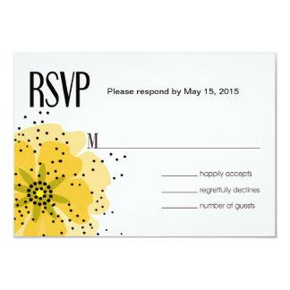 """Amarillo de RSVP de las amapolas de la pimienta Invitación 3.5"""" X 5"""""""