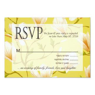 """Amarillo de RSVP el   del jardín de flores de la Invitación 3.5"""" X 5"""""""