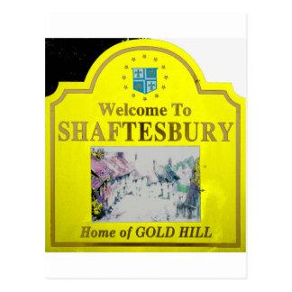 Amarillo de Shaftesbury Tarjetas Postales